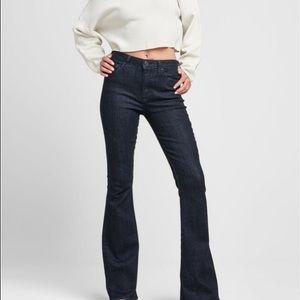 Hudson Beth Baby Flare Denim Jeans in Black